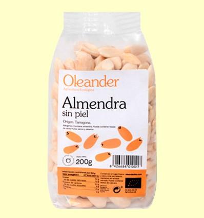 Almendra Sin Piel Bio - Oleander - 200 gramos