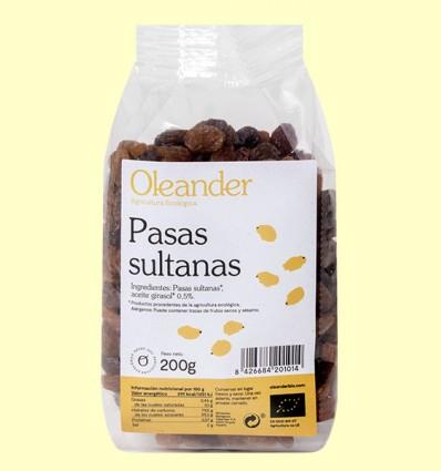 Pasas Sultanas Bio - Oleander - 200 gramos