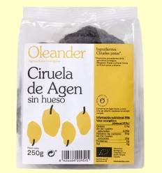 Ciruelas de Agen Sin Hueso Bio - Oleander - 250 gramos
