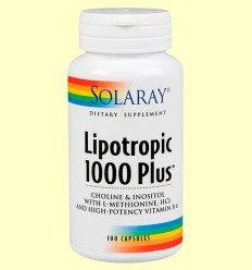 Lipotropic 1000 Plus - Solaray - 100 cápsulas