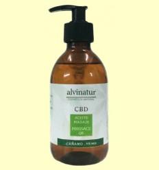 Aceite de Masaje CBD Bio - Alvinatur - 500 ml