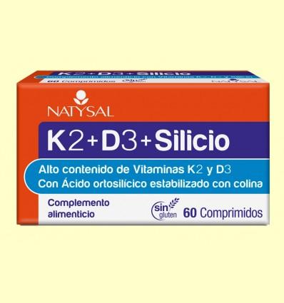 K2 + D3 + Silicio - Natysal - 60 comprimidos