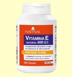 Vitamina E Natural 400 UI - Natysal - 120 cápsulas