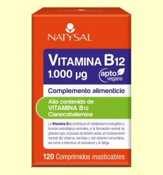 Vitamina B12 - Natysal - 120 cápsulas