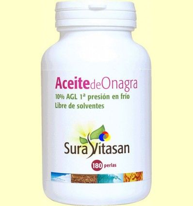 Aceite de Onagra Biológico - Sura Vitasan - 180 perlas
