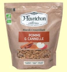 Muesli Crunchy de Manzana y Canela Bio - Favrichon - 500 gramos