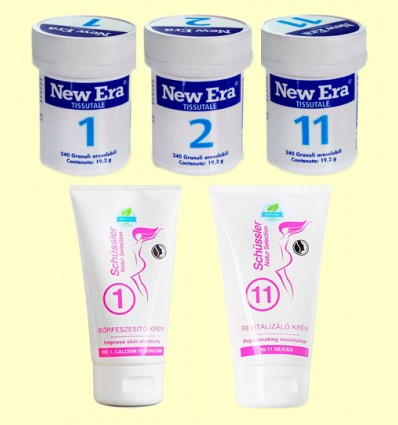 Trio Belleza - Sales 1 2 y 11 Cremas 1 y 11 - New Era - 720 comprimidos + 150 ml