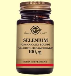 Selenio 100 ug sin levadura - Solgar - 100 comprimidos