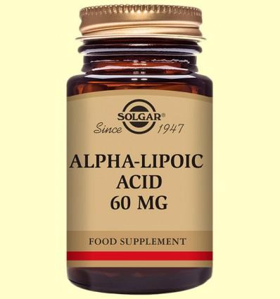 Acido Alfa Lipoico 60 mg - Solgar - 30 capsulas vegetales *