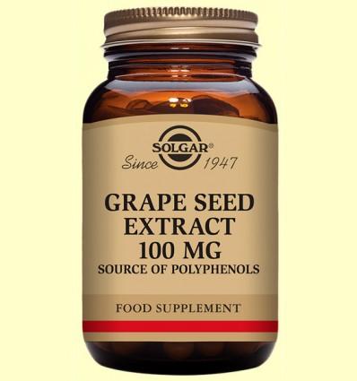 Extracto de Semilla de Uva 100 mg - Antioxidante - Solgar - 30 cápsulas