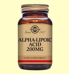Ácido Alfa Lipoico 200 mg - Solgar - 50 cápsulas vegetales