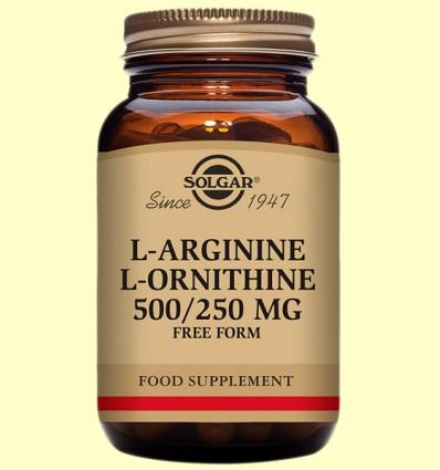 L-Arginina/L-Ornitina - Aminoácidos - Solgar - 50 cápsulas