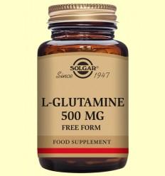 L-Glutamina 500 mg - Aminoácidos - Solgar - 250 cápsulas