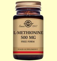 L-Metionina 500 mg - Aminoácidos - Solgar - 30 cápsulas