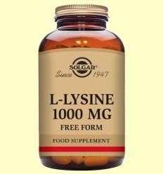 L-Lisina 1000 mg - Aminoácidos - Solgar - 250 comprimidos