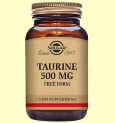 Taurina 500 mg - Aminoácidos - Solgar - 50 cápsulas