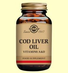 Aceite de higado de bacalao - Solgar - 100 cápsulas