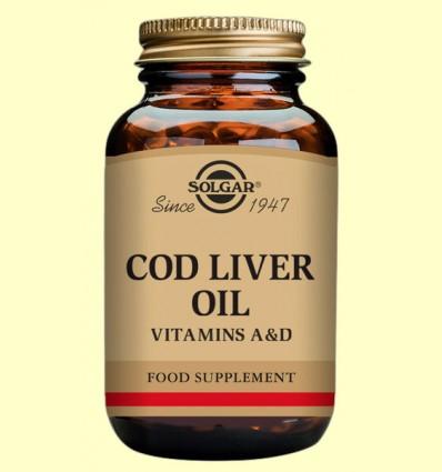 Aceite de higado de bacalao - Solgar - 250 cápsulas