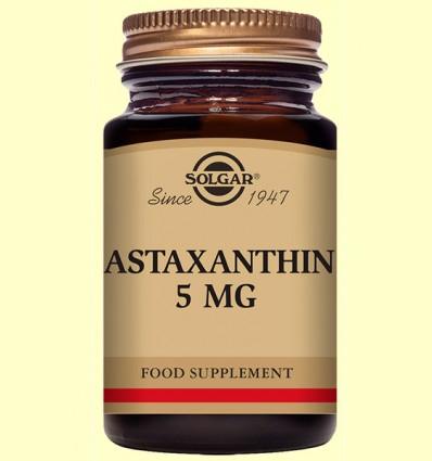 Astaxantina 5 mg - Solgar - 30 cápsulas blandas *