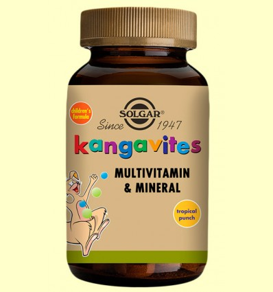 Kangavites Multitropical - Solgar - 60 comprimidos masticables