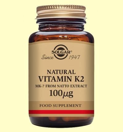 Vitamina K2 100 ug - Solgar - 50 cápsulas vegetales