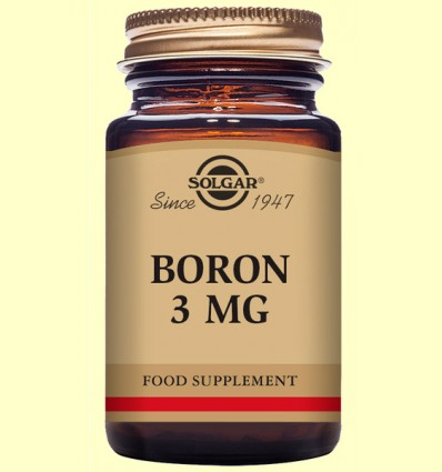Boro 3 mg - Solgar - 100 cápsulas