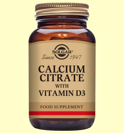 Citrato de Calcio con Vitamina D3 - Solgar - 60 comprimidos