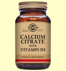 Citrato de Calcio con Vitamina D - Solgar - 240 comp.