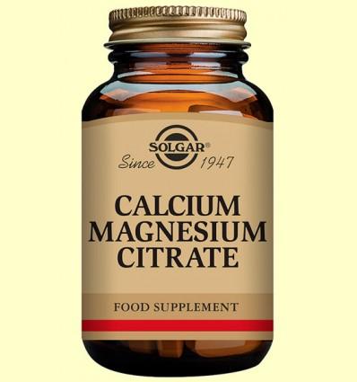 Calcio - Magnesio Citrato - Solgar - 100 comprimidos