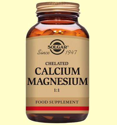 Calcio - Magnesio Quelado 1:1 - Solgar - 120 comprimidos *