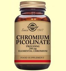 Cromo Picolinato 200 ug - Solgar - 90 cápsulas vegetales *