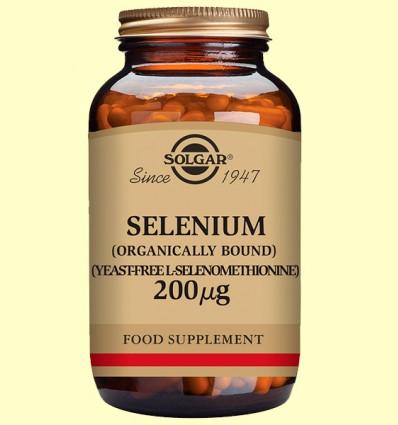 Selenio 200 ug - Sin levadura - Solgar - 50 comprimidos