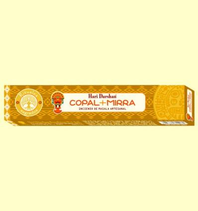 Incienso de Masala Artesanal Copal y Mirra - Haris Darshan - 15 sticks