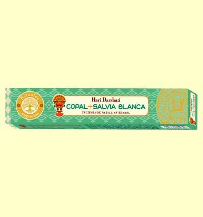 Incienso de Masala Artesanal Copal y Salvia Blanca - Haris Darshan - 15 sticks