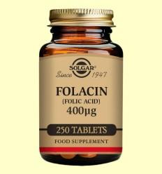 Folacín 400µg - Vitamina B9 - Solgar - 250 comprimidos