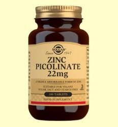 Zinc Picolinato 22 mg - Solgar - 100 comprimidos