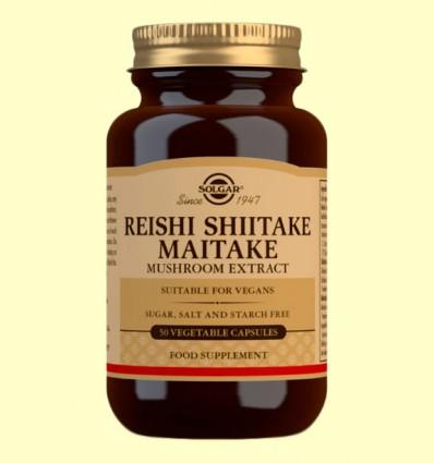 Reishi Shiitake Maitake - Solgar - 50 cápsulas