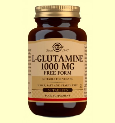 L-Glutamina 1000 mg - Solgar - 60 comprimidos *