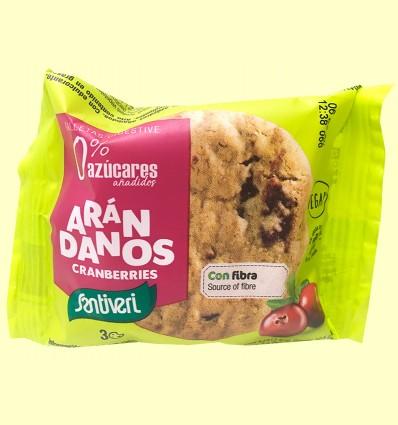 Galletas Arándanos Digestive 0% azúcares - Santiveri - 3 unidades