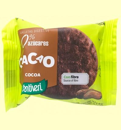 Galletas Cacao Digestive 0% azúcares - Santiveri - 3 unidades