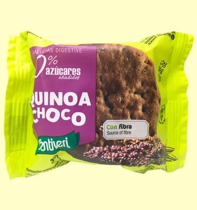 Galletas Quinoa Choco Digestive 0% azúcares - Santiveri - 3 unidades