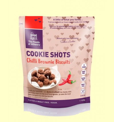 Mini Cookies Brownie de Chilli Sin Gluten - The Foods of Athenry - 120 gramos
