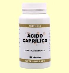 Ácido Caprílico - Ortocel - 100 cápsulas