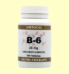 Vitamina B-6 - Ortocel - 100 Tabletas