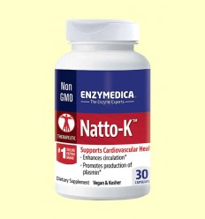 Natto-K - Enzymedica - 30 Cápsulas