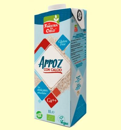 Bebida de Arroz con Calcio Bio - La Finestra sul Cielo - 1 litro