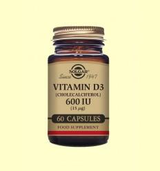 Vitamina D3 600 UI (15 μg) (Colecalciferol) - Solgar - 60 Cápsulas