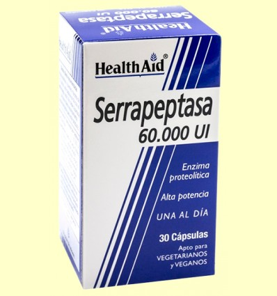 Serrapeptasa 60000 UI - Health Aid - 30 cápsulas
