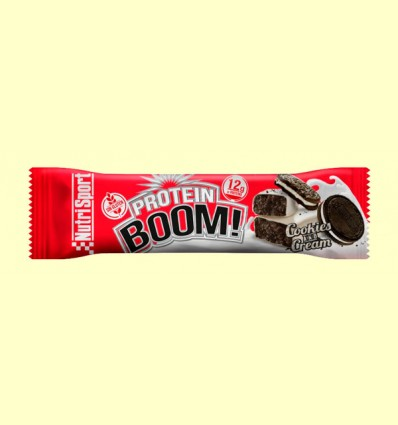 Barrita Protein Boom Cookies and Cream - NutriSport - 49 Gramos