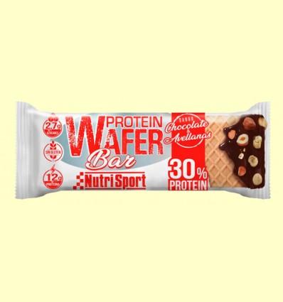 Barrita Protein Wafer Bar de Chocolate y Avellanas - NutriSport - 40 Gramos